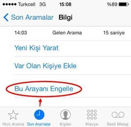 Numara Engelleme Vodafone, Turkcell, Türk Telekom, Sabit Hat
