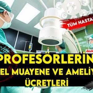 Profesör Özel Muayene ve Ameliyat Ücretleri 2021 (Tüm Hastaneler)